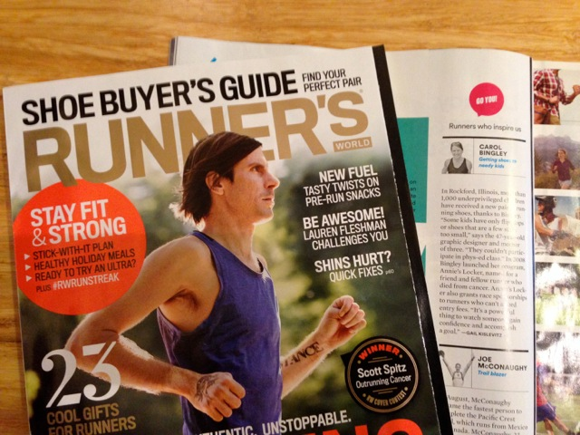 Annie's Locker featured in Runner's World Magazine